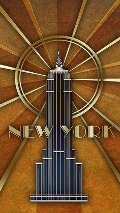 Art Deco Poster - New York