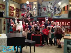 """Photo: Cast And Crew Of """"Austin & Ally"""" Wished Everyone Happy Holidays"""