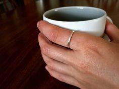 Sterling Silver Stacking Ring by canvasandcrow on Etsy