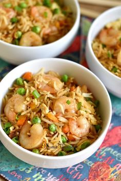 Riz-sauté-aux-crevettes Fish Recipes, Healthy Recipes, Buddha Bowl, Cooking Light, Fried Rice, Food Inspiration, Food And Drink, Menu, Diet