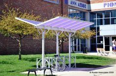 Duo-Gard, Bike Shelter - Butterfly Model, Ann Arbor Public Schools. Ann Arbor, MI