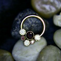 ianmbell: Is your daith or septum in need of a jewelry upgrade? If so, this Cha… ianmbell: Is your daith or septum in need of a jewelry upgrade? If so, this Champagne and Brown CZ cluster from is up for grabs! Innenohr Piercing, Daith Piercing Jewelry, Cute Piercings, Body Piercings, Septum Ring, Migraine Piercing, Tragus, Face Jewellery, Ear Jewelry
