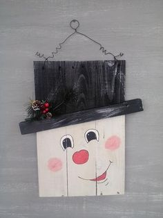 Reversible Snowman Scarecrow Door Hanger by GracefullyHis on Etsy