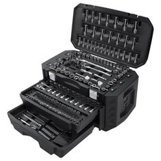 HART Multiple Drive 215pc Mechanics Tool Set $98 (34% off) @ Walmart Dewalt Tstak, Mechanic Tool Box, Go To Walmart, Barrel Hinges, Tools Hardware, Wrench Set, Tools And Equipment, Tool Set, Chrome Finish