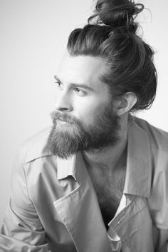 Man bun & beard
