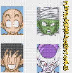 Faces 1 DBZ Plantilla Hama by JNS-Wallpapers