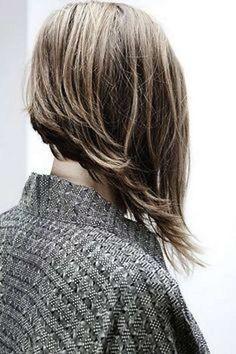 Cortes de pelo asimétricos para el otoño/invierno 2014-2015: fotos de los looks - Corte asimétrico melena