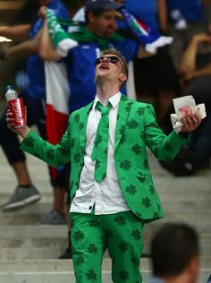 #EURO2016 Fans support their teams before the UEFA Euro 2016 Group E match between Italy and Ireland at Stade Pierre Mauroy in Lille France on June 22 2016