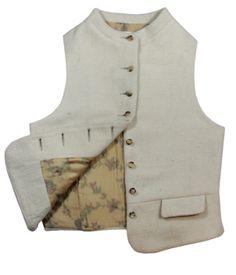 Still Ethical Cream Womans Wool Waistcoat