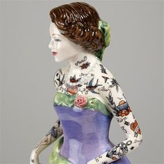 Tattooed Porcelain Figures by Jessica Harrison