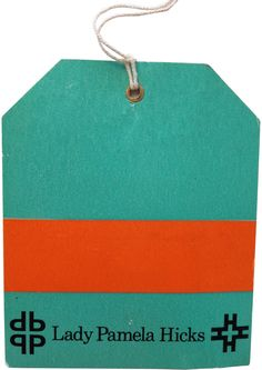 David Hicks designed luggage tags for the family