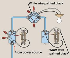 3 way switch wiring diagram in 2019 electricity pinterest 3-Way Light Wireing how to wire three way light switches