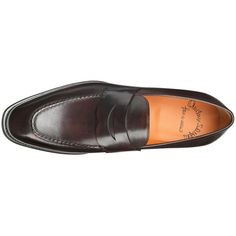 Loafer 06949 Santoni featuring polyvore, men's fashion, shoes, loafers, santoni shoes, brown penny loafers, tan shoes, genuine leather shoes and brown leather shoes #santonishoes