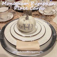 Monogram Pumpkin Place Card Tutorial