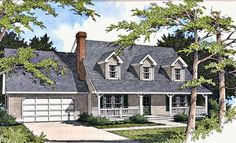 Eplans Farmhouse House Plan - Radiates Warmth - 1921 Square Feet and 3 Bedrooms from Eplans - House Plan Code HWEPL04685