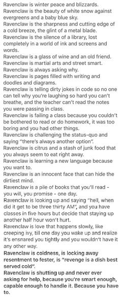 What it is like as a Ravenclaw