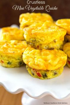 Crustless Mini Vegetable Quiche