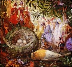 """""""The Death of Cock Robin"""" -- by John Anster Fitzgerald (British, 1832–1906)"""