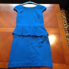 Blue express dress! Size 4, only worn once! Great condition and super comfortable and machine washable! Express Dresses Midi