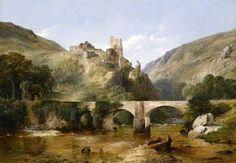 'Richmond Castle, Yorkshire' (1862) Frederick Richard Lee (1798 - 1879). North #Yorkshire, #England.