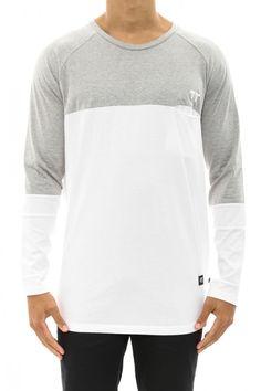 Domi Long Sleeve Tee Grey/white