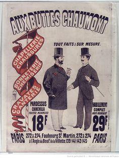 Aux Buttes Chaumont chapellerie chaussures... habillement complet haute nouveauté 29 F... : [affiche] / [Jules Chéret]