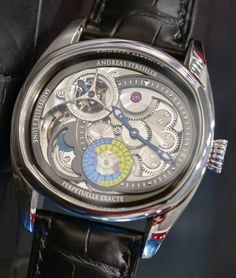 Andreas Strelher-Papillon Sauterelle a Lune Exacte Most Precise Moonphase Luxury Watches For Men, Men's Watches, Skeleton, Accessories, Grasshoppers, Watch, Skeletons, Jewelry Accessories
