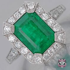 I love engagement rings that have color.