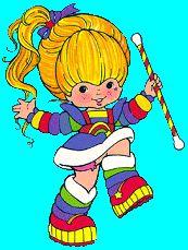 Baton twirling Rainbow Brite.