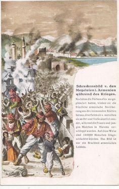 German postcard depicting scene from Armenian genocide.