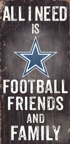 e9866c943a2 Dallas Cowboys Sign Wood 6x12 Football Friends and Family Design Black  Special Order
