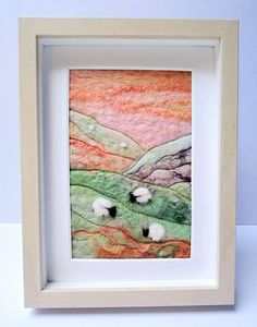 Check out this item in my Etsy shop https://www.etsy.com/uk/listing/557086378/felt-sheep-picture-framed-peaches-green #feltpicture #feltsheep