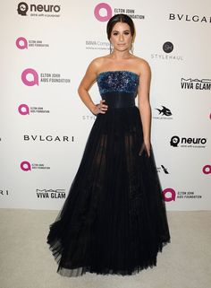 Pin for Later: Les Stars S'éclatent à la Soirée Organisée Par Elton John Pour les Oscars Lea Michele