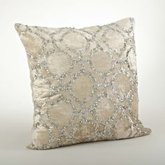 Found it at Wayfair - Sparkling Velvet Sequined Cotton Throw Pillow