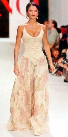 Helena Christensen - Valentino Couture Spring/Summer 1994