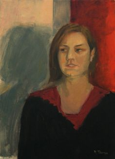 Άτιτλο πορτραίτο / Untitled portrait λάδι σε καμβά / oil on canvas 40.0*55.0*3.0  cm