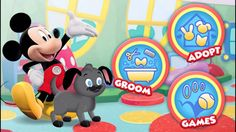 Mickey Mouse Clubhouse - Mickey's Pet Playhouse Game - Mickey Mouse Dog Care Fun House Mickey Mouse Games, Mickey Mouse Clubhouse, Disney Games, Disney S, House Games, Fun House, Disney Junior, Cool Cartoons, Dog Care