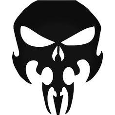 The Punisher Tribal Skull 1 Vinyl Decal Sticker BallzBeatz . Skull Stencil, Skull Art, Spray Paint Stencils, Stenciling, Bull Tattoos, Reaper Tattoo, Punisher Skull, Arte Horror, New Art