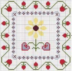 Decoración para cojines en punto de cruz | Punto de cruz - Colección de patrones punto de cruz gratis.