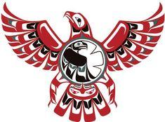 Raven Steals The Light Native American Tattoos, Native Tattoos, Native American Symbols, Haida Tattoo, Tatouage Haida, Thunderbird Tattoo, Totems, Native American Thunderbird, Haida Art