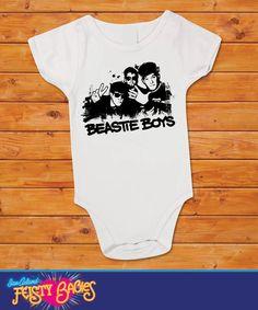 Beastie Boys Onesie by feistybabies $13.99 #baby #onesie #beastieboys #music #babyshower #feistybabies