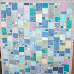 Playing with fabric: Sea Glass quilt by Gale Yawn