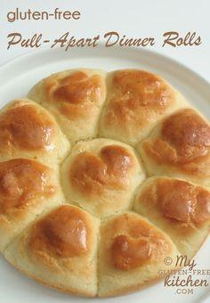 Pull-Apart Dinner Rolls {Gluten-free}   2¾ cups (11½ oz.) Gluten Free Mama's Almond Blend Flour  1½ tsp. xanthan gum  2 tsp. SAF instant yeast  ¼ cup sugar  1 tsp. salt  1 cup warm water (105-110°)  2 Tbsp. butter, dairy-free margarine, or Spectrum shortening, melted  1 egg (preferably room temp)  1 tsp. cider vinegar