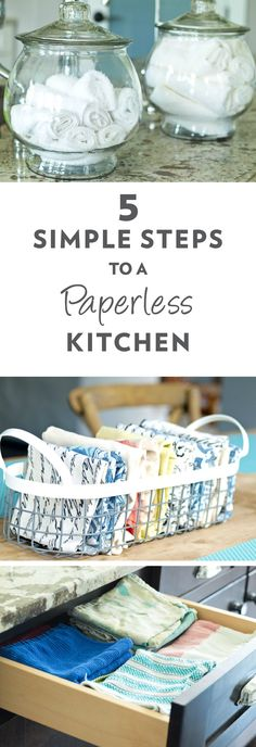 Simple Tips to Transition to a Paperless Kitchen 5 Simple Tips for Going Paperless in your Kitchen. It's much easier and more convenient than you Simple Tips for Going Paperless in your Kitchen. It's much easier and more convenient than you think! Tips And Tricks, No Waste, Reduce Waste, Reduce Reuse, Reuse Recycle, Decor Scandinavian, Ideas Para Organizar, Diy Home, Home Decor