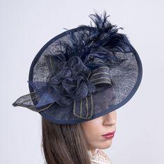 11581ee1869 Derby fascinator hat Royal Ascot hat Kentucky derby Navy Fascinator