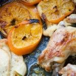 French recipes: clementine chicken