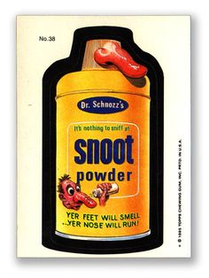 Wacky Packages Topps 1985 Series: Snoot Powder - #38