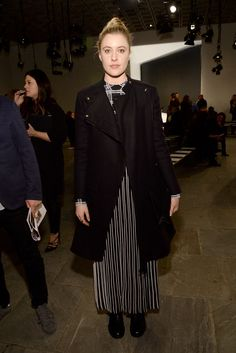 Greta Gerwig Photos Photos - Actress Greta Gerwig attends the Proenza Schouler fashion show during Mercedes-Benz Fashion Week Fall 2015 at the Marcel Breuer Building on February 18, 2015 in New York City. - Proenza Schouler - Front Row - Mercedes-Benz Fashion Week Fall 2015