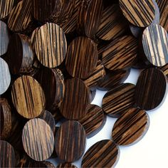 WDOVF20PM  Wood Bead Flat Oval 15x20mm Old Palm  8 by thebeadyeye, $2.50