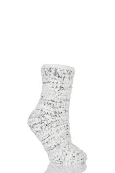 Ladies 1 Pair Totes Super Soft Sequin Fluffy Bed Socks